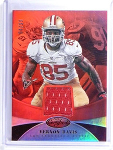 2013 Certified Mirror Red Vernon Davis jersey #D94/99 #97 *48096