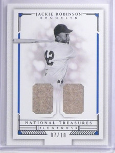 2016 Panini National Treasures Jackie Robinson Dual Jersey #D07/10 #LCJR *63957