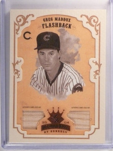 2004 Diamond Kings Greg Maddux Flashback Bronze Dual Bat #D43/50 #156 *51634