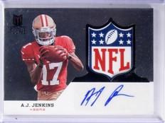 2012 Momentum Black NFL Shield RC A.J. Jenkins Patch Autograph 1/1 #109 *57547