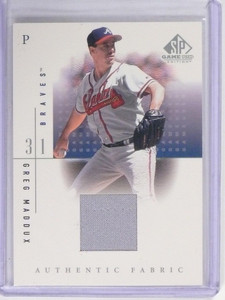 2001 SP Game Used Edition Greg Maddux Jersey #GM *49714