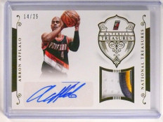 14-15 National Treasures Aaron Afflalo autograph auto patch #D14/25  *51799