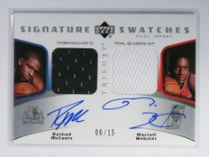 05-06 Upper Deck Trilogy Rashad Mccants & Martell Webster auto jersey #/15 *4782