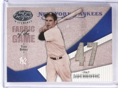 2004 Leaf Certified Fabric of the Game Yogi Berra Jersey #D07/19 #FG128 *59365