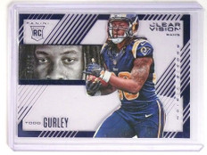 2015 Panini Clear Vision Blue Todd Gurley rc rookie #D17/99 #RV-5 *51917