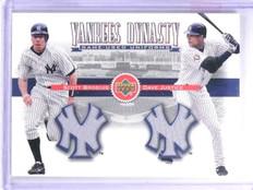 2002 Upper Deck Yankee Dynasty Brosius Justice Dual Jersey #YJBJ *63481