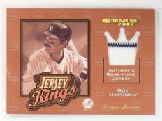 2002 Donruss Jersey Kings Studio Series Don Mattingly #D04/25 #JK13 *58577