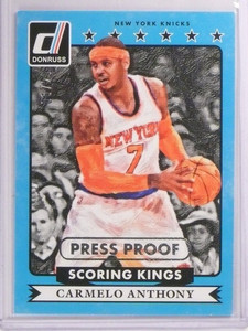 2014-15 Panini Donruss Carmelo Anthony Scoring Kings Press Proof 06/25 #24 *5370