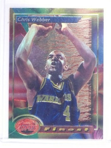 1993-94 Topps Finest Chris Webber Rookie RC #212 *64611
