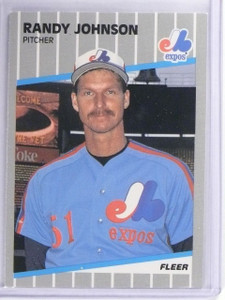 1989 Fleer Glossy Randy Johnson Rookie RC #381 *63058