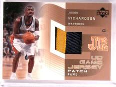 2002-03 Upper Deck Jason Richardson UD Game Jersey Patch Name #JRPN *55572