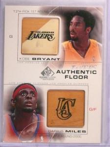 2000-01 SP Game Floor Kobe Bryant Darius Miles Combo Game Used #C15 *55450