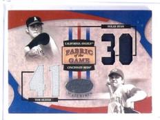 2005 Leaf Certified Fabric Game Nolan Ryan Tom Seaver Dual Jersey #D46/50 *58306