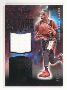 2015-16 Absolute Damian Lillard NBA Stars Material Jersey #D37/99 #23 *53090
