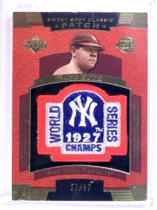 2004 UD Sweet Spot Classic Patch 1927 World Series Babe Ruth #D27/50 #RU *63613