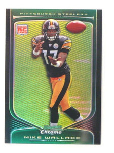 2009 Bowman Chrome Refractor Mike Wallace rc rookie #143 *38235