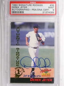 1994 Signature Rookies Derek Jeter autograph auto #D2537/8650 PSA 9 *67609