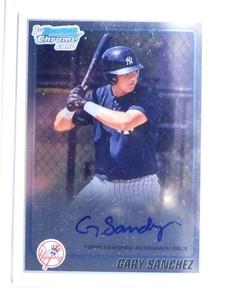 2010 Bowman Chrome Gary Sanchez autograph auto rc rookie #BCP207 *67637