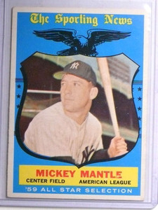 1959 Topps Mickey Mantle AS #564 VG-EX *67642