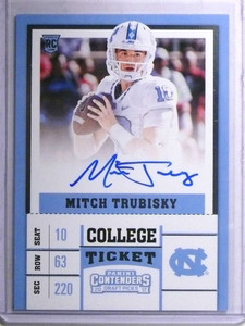 2017 Panini Contenders College Ticket Mitch Trubisky autograph auto rc  *67645