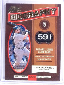 2016 Panini Prime Cuts Biography Jeff Bagwell Tag Patch #D10/25 #BIOJB *60418