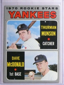 1970 Topps Thurman Munson rc rookie #189 VG-EX *67706