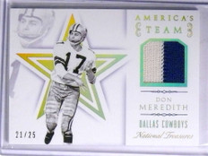 2015 National Treasures America's Team Don Meredith 2clr patch #D21/25 *67740