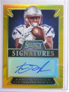 2014 Panini Select Signatures Gold Prizm Aaron Dobson autograph rc #D4/5  *67750