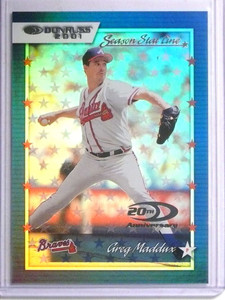 2001 Donruss Season Stat Line Greg Maddux #D15/19 #8 *67778