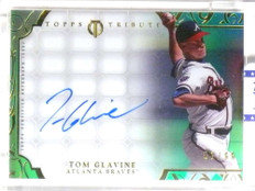 2015 Topps Tribute Framed Green Tom Glavine autograph auto #D51/99 *67799