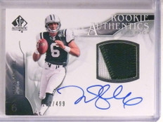 2009 SP Authentic Mark Sanchez autograph auto rc 2clr patch #D152/499  *67808