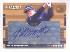 2003 Sp Game Used Signature Swings Colin Montgomerie autograph #D07/35 *67903