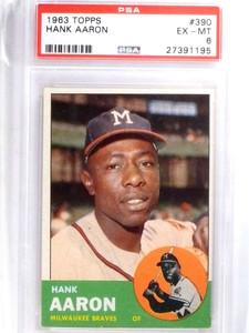 1963 Topps Hank Aaron #390 PSA 6 EX-MT *67997