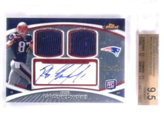 2010 Topps Finest Rob Gronkowski autograph jersey rc #D008/200 BGS 9.5 *68003