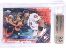 2016 Topps Chrome Red Refractor Carlos Correa sp with fans #D3/5 BGS 9.5 *68015