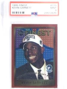 1995-96 Topps Finest Kevin Garnett rc rookie #115 PSA 9 MINT *68019