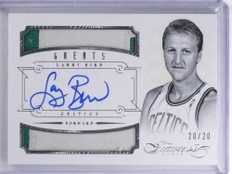2012-13 Flawless Greats Larry Bird autograph auto dual 2clr patch #D20/20 *68035