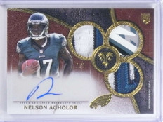 2015 Topps Triple Threads Gold Nelson Agholor autograph patch rc #D 1/1 *68065