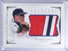 2016 National Treasures Colossal Chipper Jones jumbo 3 color patch #D1/5 *68066