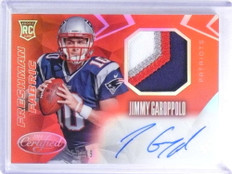 2014 Certified Mirror Red Jimmy Garoppolo autograph 3clr patch rc #D26/49 *68092