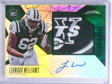 2015 Certified Mirror Emerald Leonard Williams autograph patch rc #D1/5 *68093