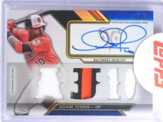 2016 Topps Triple Threads Sapphire Adam Jones autograph patch #D3/3 *68133