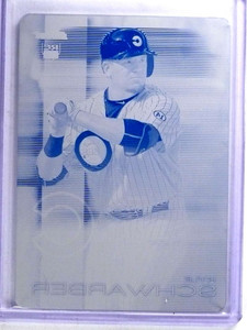2016 Topps Finest Kyle Schwarber rc rookie Printing Plate #D 1/1 #67 *68142