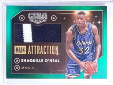 2015-16 Panini Gala Main Attraction Shaquille O'neal 2clr patch #D10/25  *68174