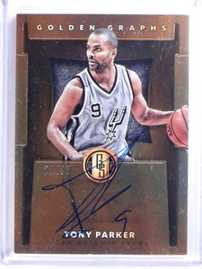 2015-16 Panini Gold Standard Golden Graphs Tony Parker autograph #D21/35 *68206