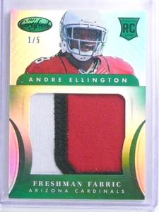 2013 Panini Certified Mirror Emerald Andre Ellington jumbo patch #D1/5 *68240