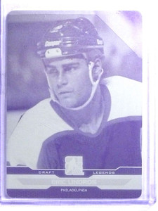 2014 In The Game ITG Draft Eric Lindros Yellow Printing Plate #D 1/1 *68320