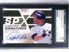 2008 SPX Superstar Signatures Derek Jeter autograph auto SGC 96 MINT *68331