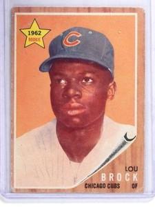 1962 Topps Lou Brock rc rookie #387 VG *68383