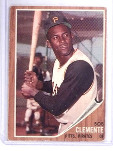 1962 Topps Roberto Clemente Pirates #10  VG *68385
